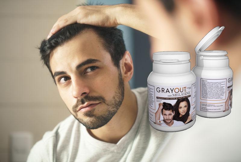 grayout con melatine integratore capelli