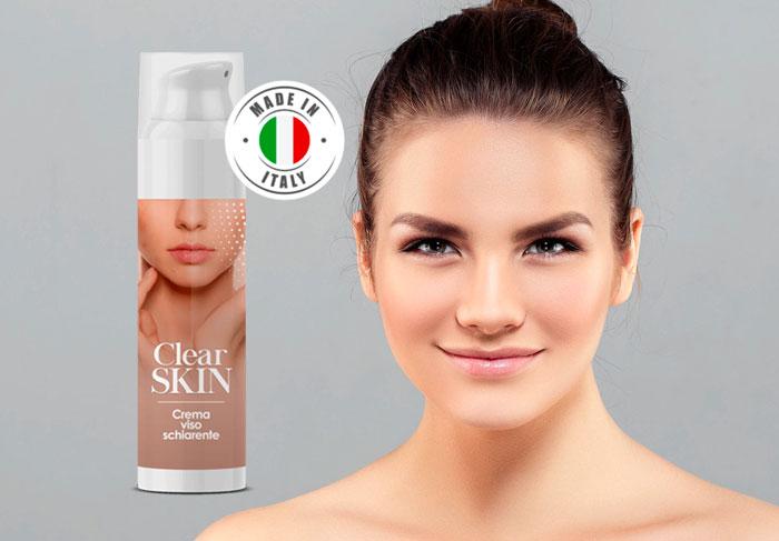 clear skin crema viso schiarente